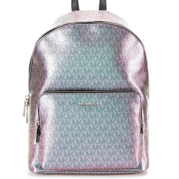 5fe17954a24f7 NWT Michael Kors Signature Wythe Metallic Backpack